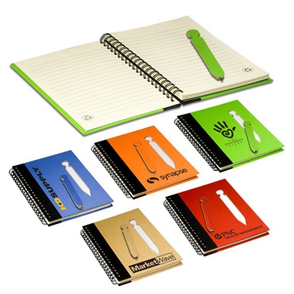 Eco-responsible (tm) Eco - Eco Notebook With Die-cut Pen. Closeout Photo