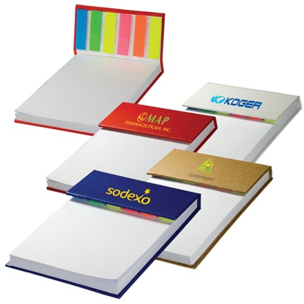 Hard Cover Sticky Flag Jotter Pad Photo