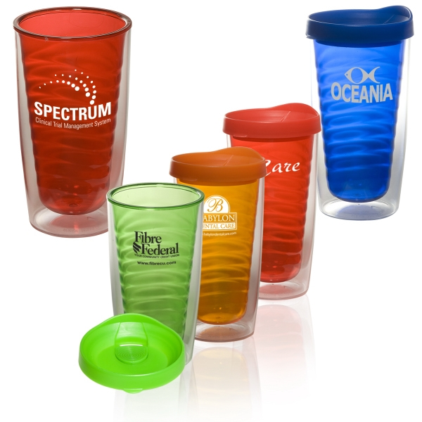 Avalon - 16 Oz. Double-wall Acrylic Tumbler With Tinted Inner Wall - Bpa Free Photo