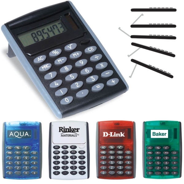Robot Series (r) - Jumbo Desk Calculator, With Rotating Cover, Automatically Creates An Easel Photo