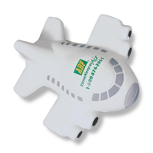 Airplane Shaped Off-white Colored Stress Reliever Photo