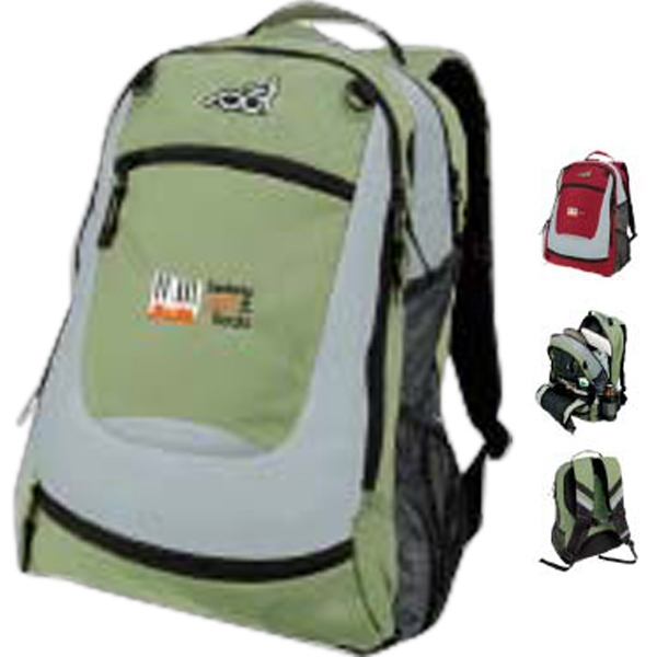 "Sol (R) Venture Backpack - Backpack made of 420 polyurethane ripstop; compartment fits up 13"" laptop."