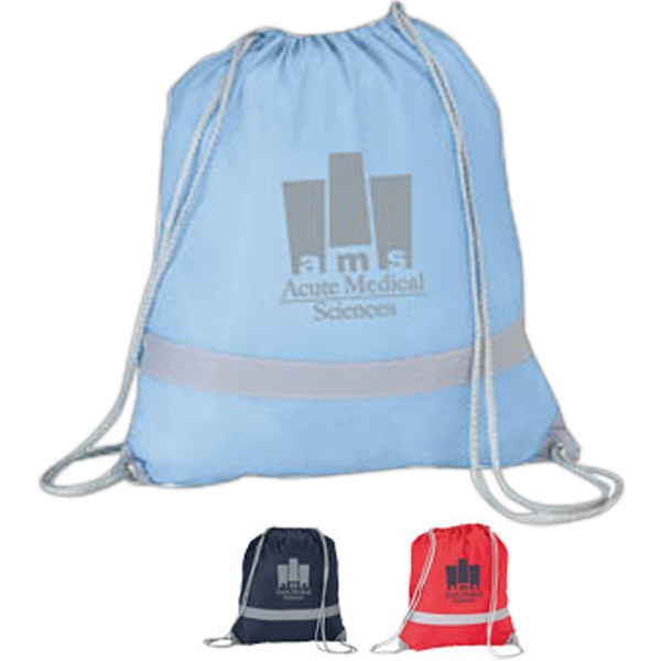 "Rucksack - Drawstring Bag Of 190t Polyester; 14 1/2"" X 16"" Photo"