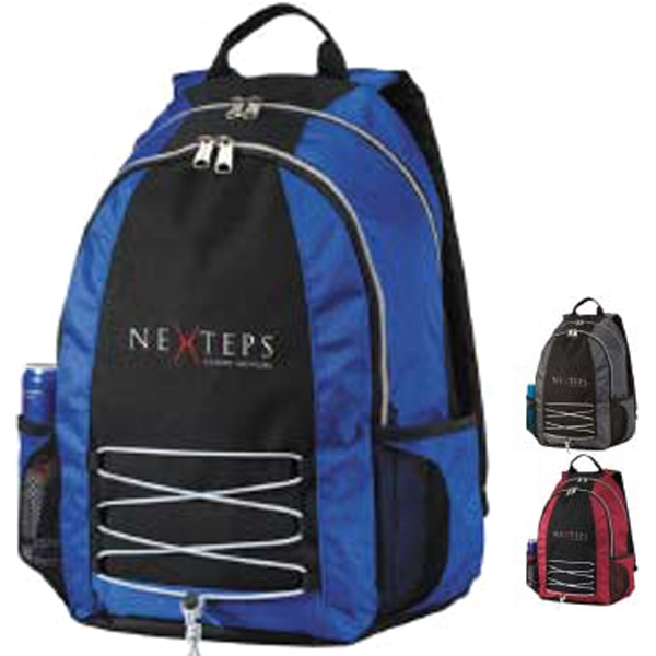 Base Jump Computer Backpack - Polyester backpack with a laptop compartment keeps everything in its place.