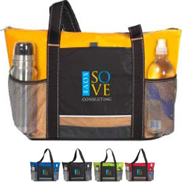 Icy Bright Atchison (r) - Cooler Tote Bag Features A Front Slip Pocket, Two Mesh Pockets And 24 Can Capacity Photo
