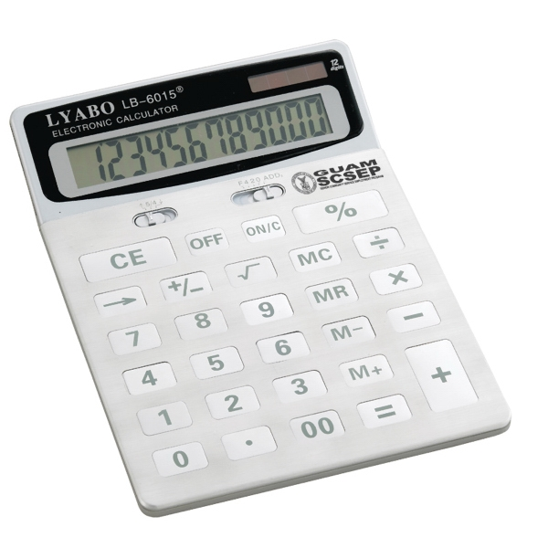 Calculator With Dual Power Sources Photo