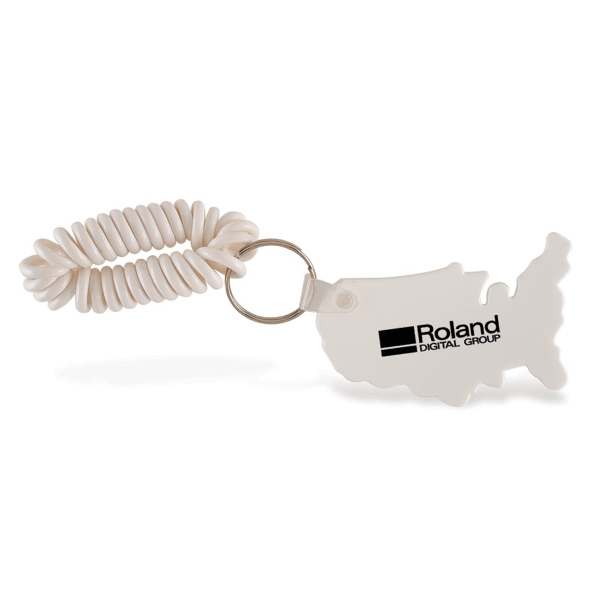 Vinyl Usa Keychain With Wristband Photo