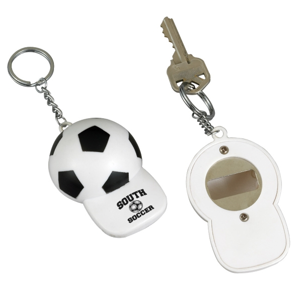 Soccer Bottle Opener And Keychain In One Photo
