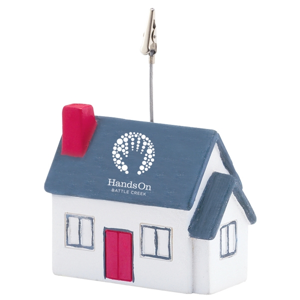 Memo Holder With House Shaped Stress Ball Base Photo