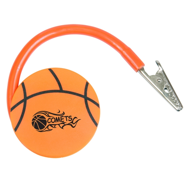 Flat Basketball Shaped Memo Clip Photo
