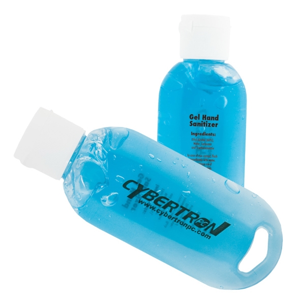 1.9 Oz. Unscented Antibacterial Gel Sanitizer With Blue Tint Photo