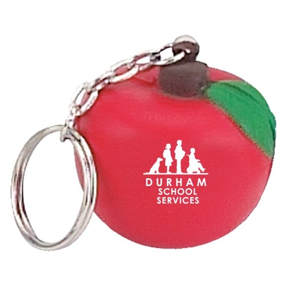 Apple Stress Reliever Ball Keychain Photo