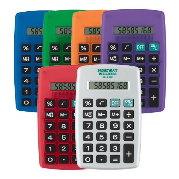 Large Digital Display With Jumbo Raised Rubber Key Calculator Photo