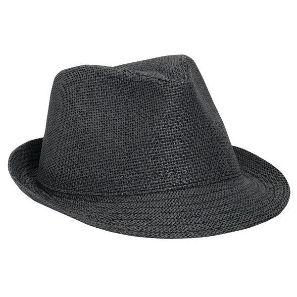 Twisted Toyo Fedora Hat. Blank Photo