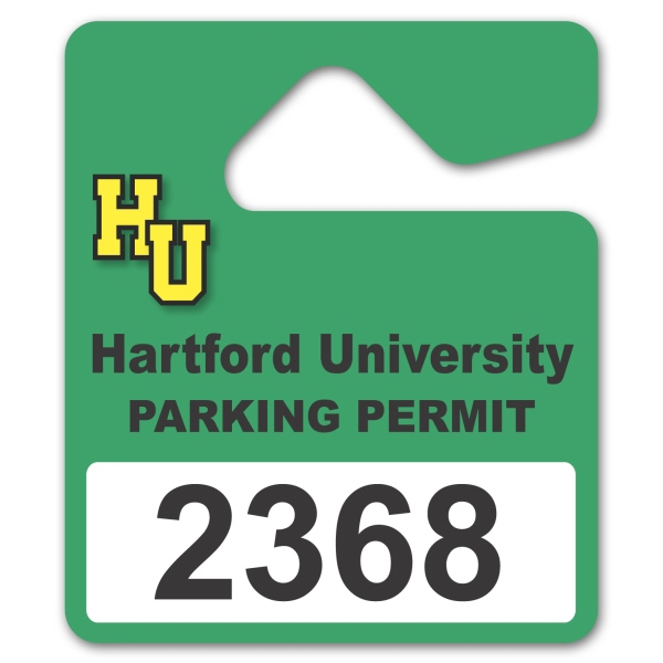 Laminated Paper Parking Permit Hang Tag Photo
