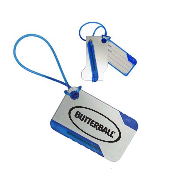 Luggage Tag With Pen That Fully Conceals Address Photo