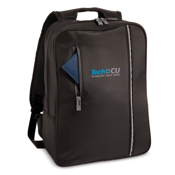 The City - Embroidery - Computer Case With Trim Profile In Durable Microfiber, Pockets For Cord Management Photo