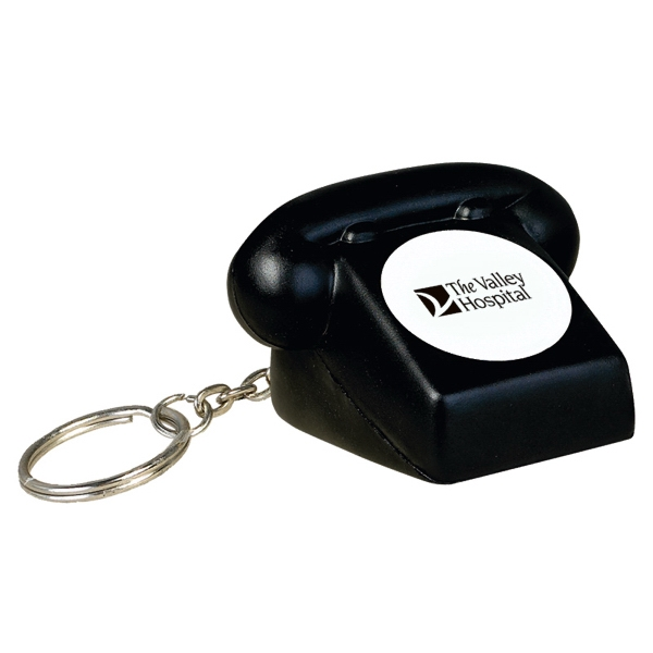 Rotary Telephone Stress Reliever With Key Chain Photo
