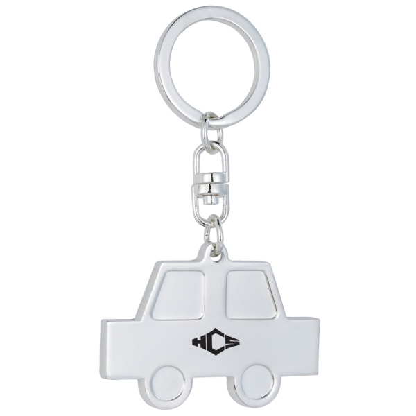 Silver Plated Car Keychain. Closeout Photo