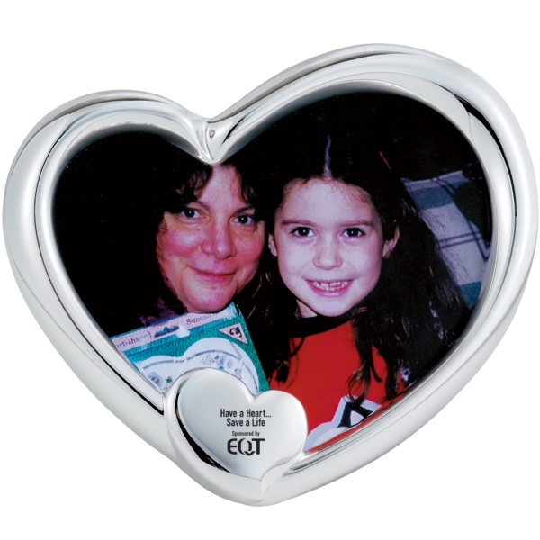 Silver Plated Heart Picture Frame. Closeout Photo