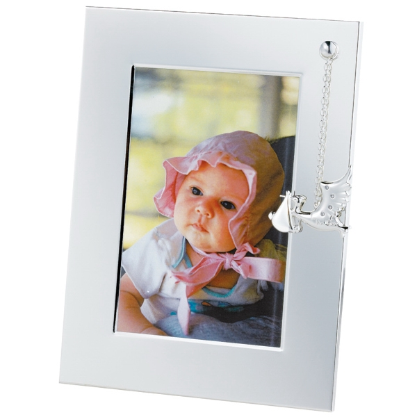 Silver Plated Stork Picture Frame. Closeout Photo