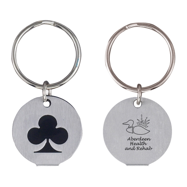Silver Plated Club Keychain. Closeout Photo