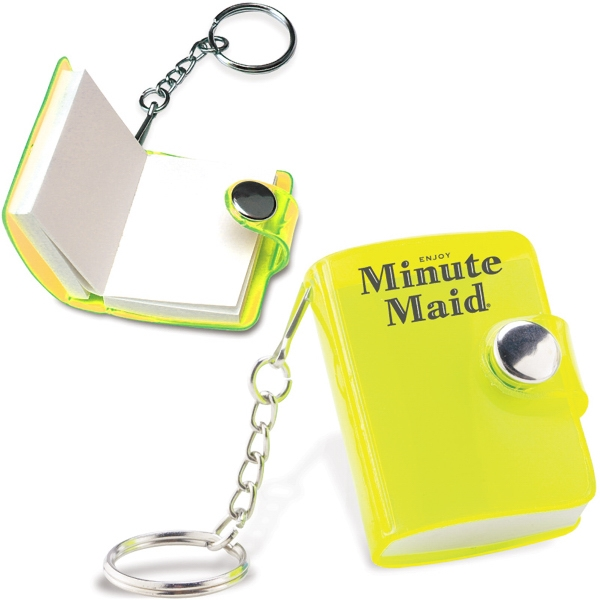 Mini Notepad With Attached Keychain. Closeout Photo