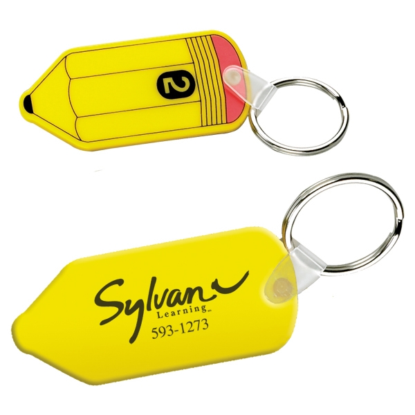 Vinyl Pencil Shaped Keychain With Split Ring Photo