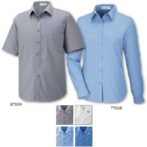 North End (r) Windsor -  X S- X L - Ladies' Long Sleeve Oxford Shirt With Spread Collar Photo