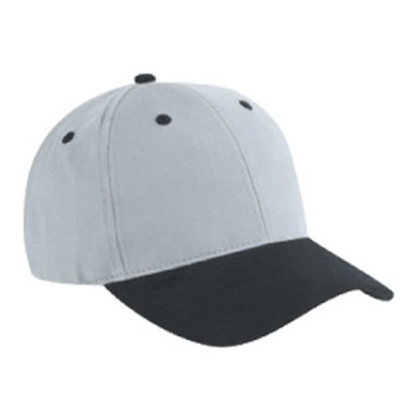 Six Panel Two Tone Brushed Cotton Twill Pro Style Cap With Low Profile. Blank Photo