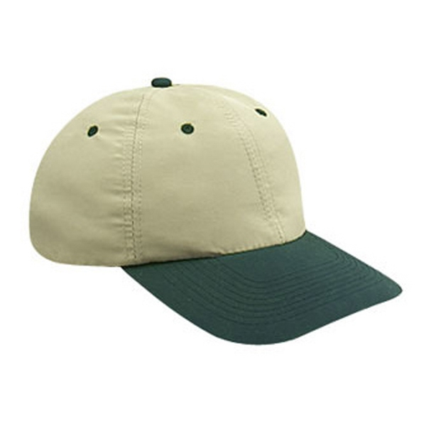 Two Tone Polyester Microfiber Pro Style Cap With Bendable Soft Visor. Blank Photo
