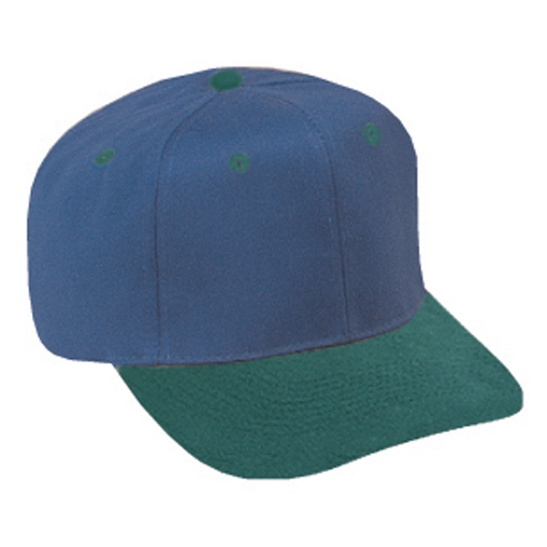 Two Tone Pro Style Brushed Polyester/cotton Twill Six Panel Cap. Blank Photo