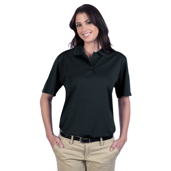3 X L - Women's 5.0 Oz 100% Polyester Performance Material Mesh Sports Shirt. Blank Photo