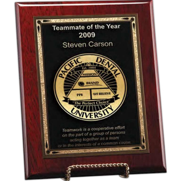 Esquire Windsor Collection - Small Esquire Plaque - This Award Is Pre-drilled To Be Hung In Vertical Or Horizontal Format Photo