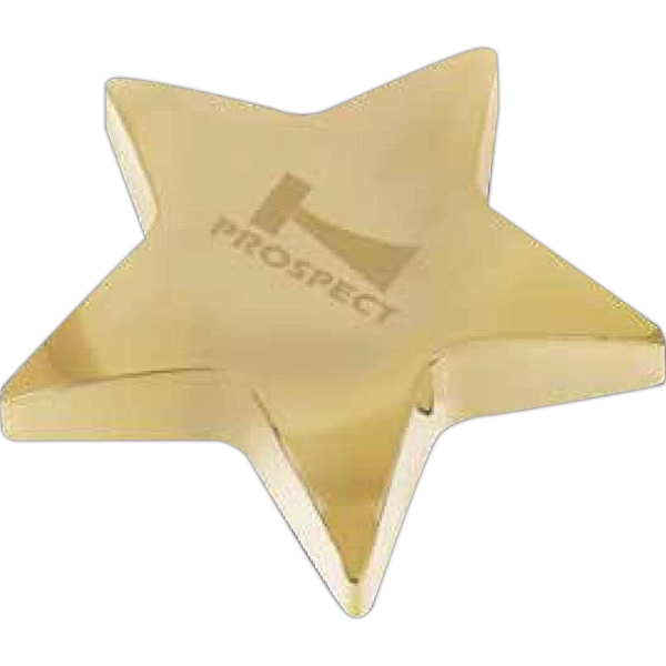 Starbright I - Gold Plated Star Shaped Zinc Alloy Paperweight With Pouch, 13 Oz Photo