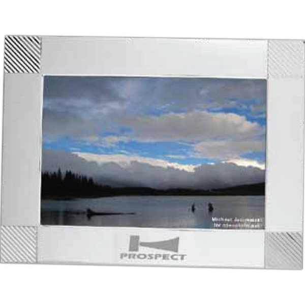 "Coronet - Aluminum Frame In Silvertone, Holds 7"" X 5"" Photo Photo"