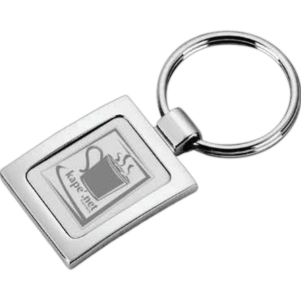 Emerson - Key Tag Made Of Polished And Matte Silver Plated Zinc Alloy Photo