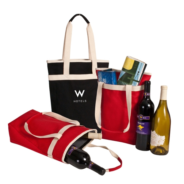 Threads - Tote That Holds 2 Standard Size Wine Bottles Photo
