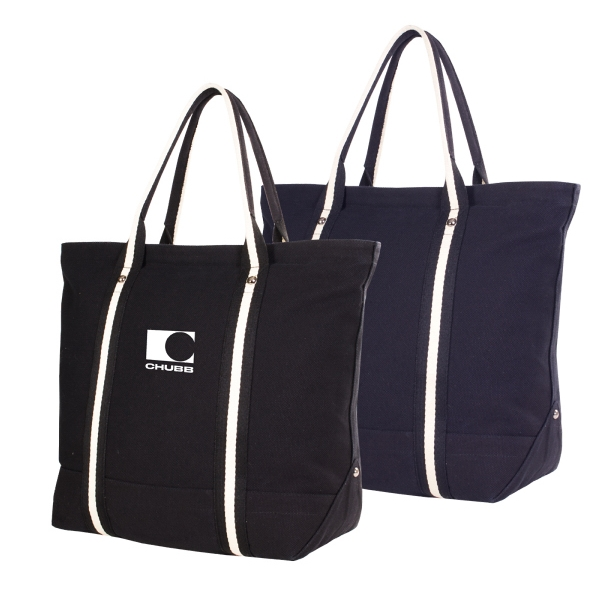 East Side Threads - 24 Oz Canvas Tote Back With Zippered Top And Interior Hanging Pocket Photo