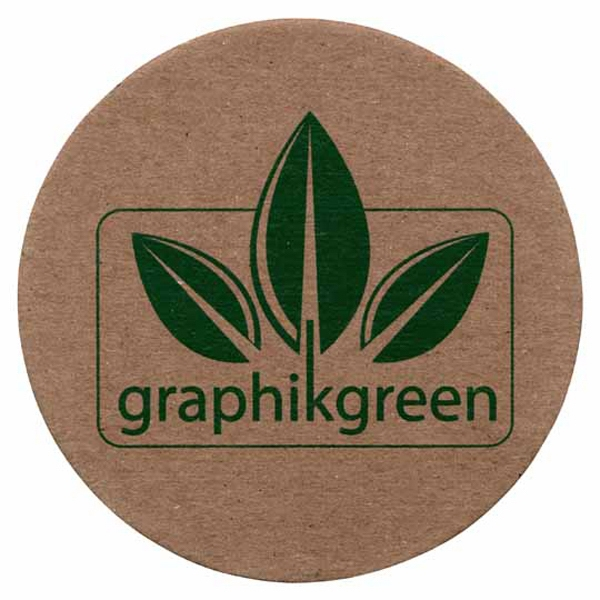 Graphikgreen - Coaster Made From Post Consumer Recycled Chipboard Photo