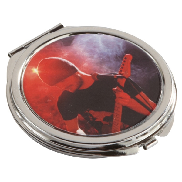 Round Metal Compact Mirror Photo