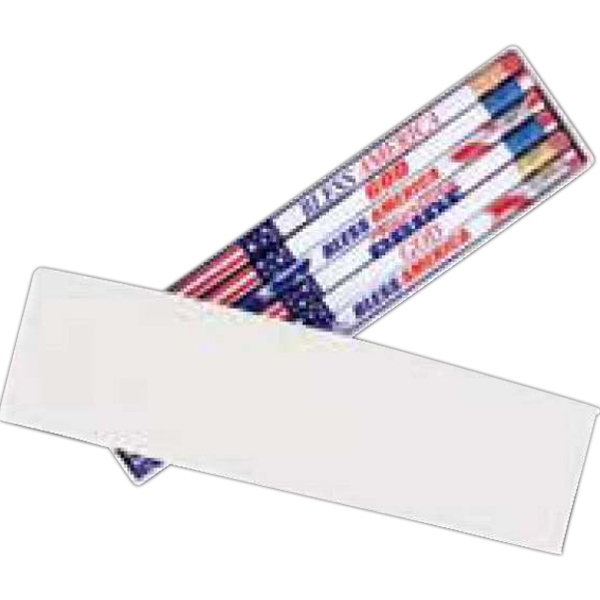 Wrapped Two-piece Recycled Box, Holds 12 Round Or Hexagonal Pencils. Blank Photo