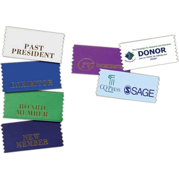 Full Color Horizontal Badge Ribbon Photo