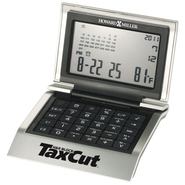 World Time Desk Clock And Calculator Photo