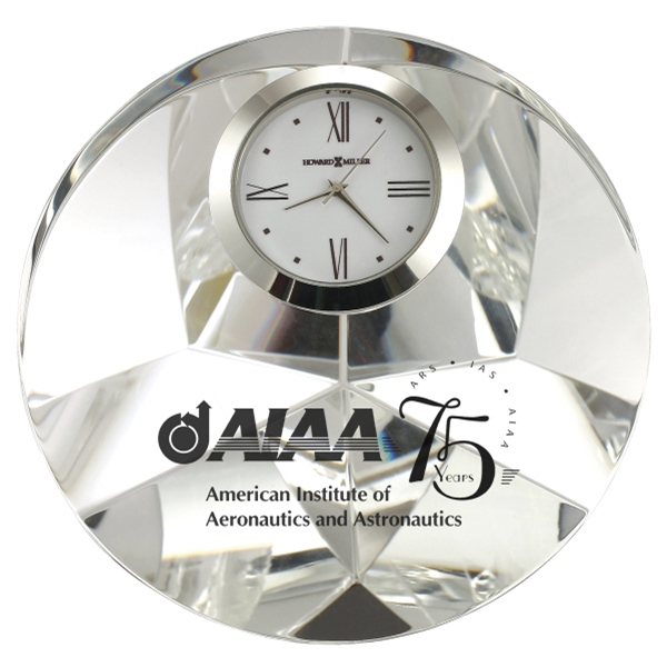 Galaxy - Optical Glass Crystal Tabletop Clock Photo