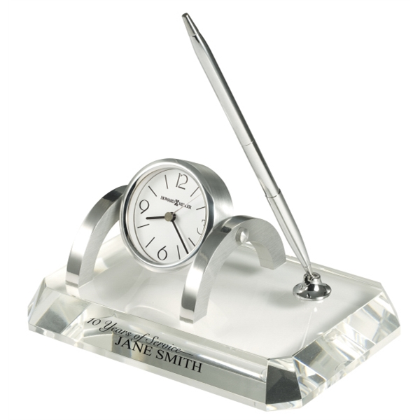 Prominence - Crystal Clock And Pen Set Photo