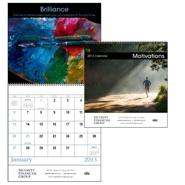 Motivations - Spiral, 13-month 2013 Calendar With Dynamic Images And Quotes Photo