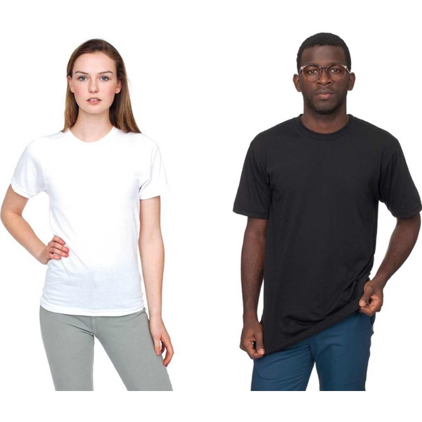 Dri - Release (r) -  X S- X L-white - Environmentally Friendly Unisex T-shirt With Durable Rib Neckband. Blank Photo