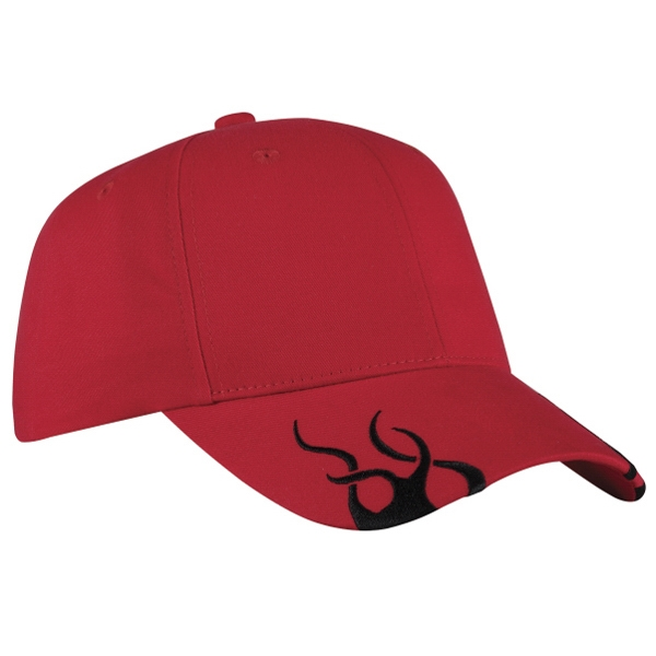Port Authority (r) - Black Racing Cap With Gray Flames Photo