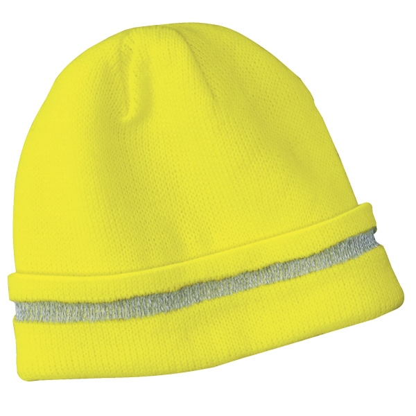 Port Authority (r) Cornerstone (tm) 3m(tm) - Safety Beanie Cap With Reflective Stripe, 100% Acrylic Photo